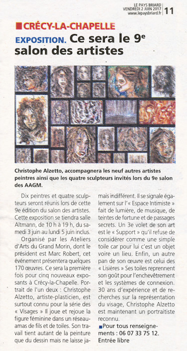 Le Pays Briard, 9e salon des artistes professionnels de Crecy la Chapelle, 2 juin 2017, Christophe Alzetto, ChrisAlz
